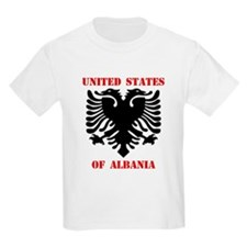 United States of Albania Kids T-Shirt