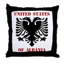 United States of Albania Throw Pillow