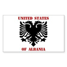 United States of Albania Rectangle Decal