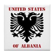 United States of Albania Tile Coaster