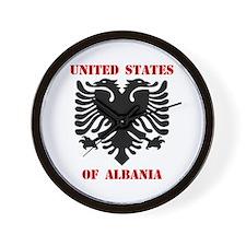 United States of Albania Wall Clock