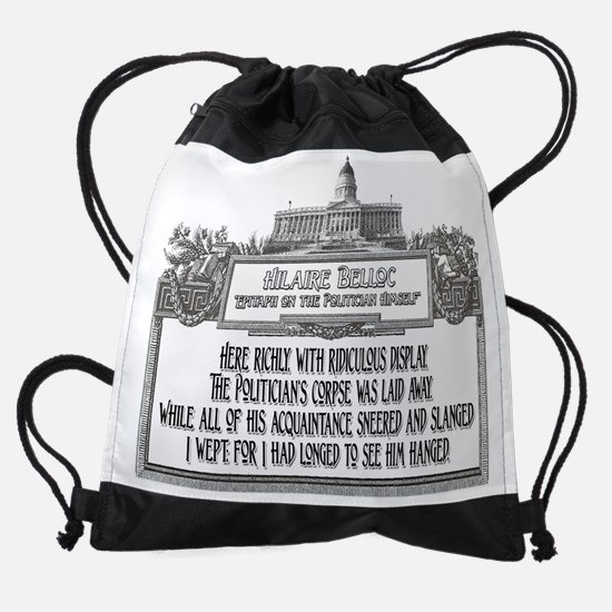 Politicians Funeral dark.png Drawstring Bag