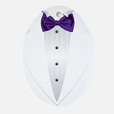 Tuxedo (violet) Ornament (Oval)