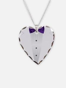 Tuxedo (violet) Necklace