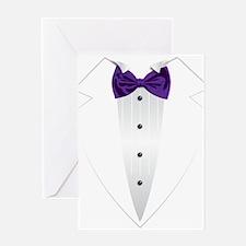 Tuxedo (violet) Greeting Card