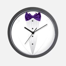 Tuxedo (violet) Wall Clock