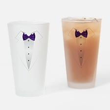 Tuxedo (violet) Drinking Glass