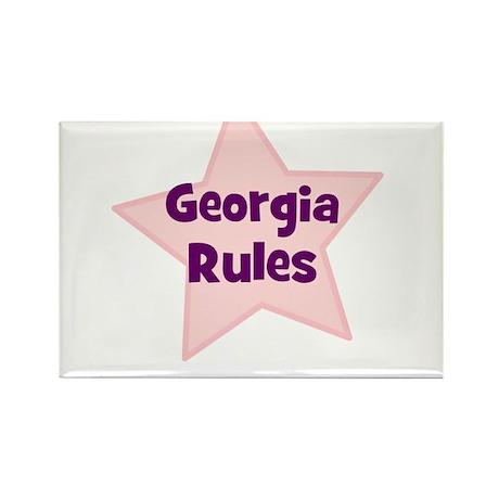 Georgia Rules Rectangle Magnet