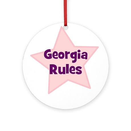 Georgia Rules Ornament (Round)