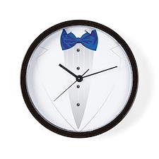 Tuxedo (blue) Wall Clock