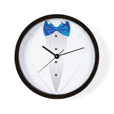 Tuxedo (lt blue) Wall Clock