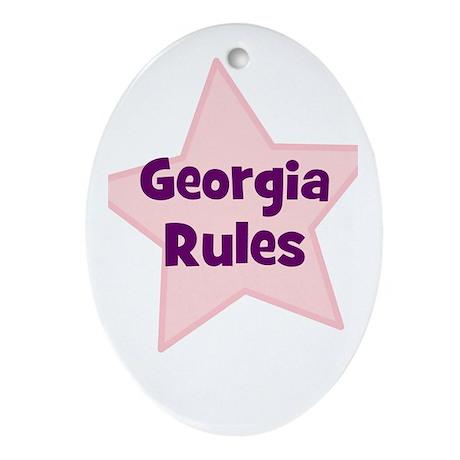 Georgia Rules Oval Ornament
