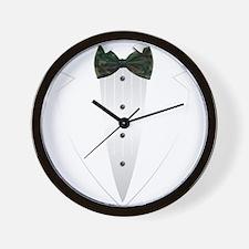 Tuxedo (woodland camo) Wall Clock