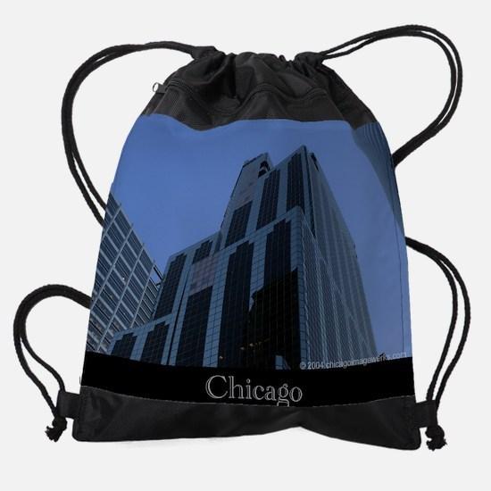 Chicago Wacker Blue #1.png Drawstring Bag