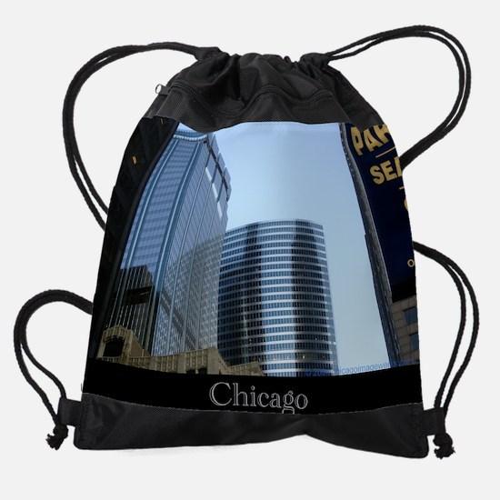 Chicago Wacker Blue #2.png Drawstring Bag