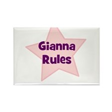 Gianna Rules Rectangle Magnet