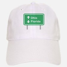 Ohio Florida Roadsign Baseball Baseball Cap