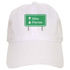 Ohio Florida Roadsign Baseball Cap