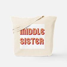 Retro Middle Sister Tote Bag