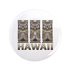 """Hawaii Tiki 3.5"""" Button"""