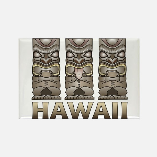 Hawaii Tiki Rectangle Magnet