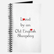 Loved by an Old English Sheepdog Journal