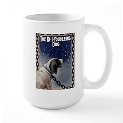 Vintage Youdleing Dog Large Mug