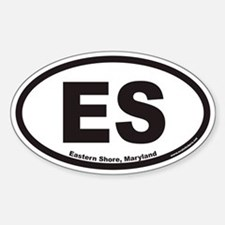 Eastern Shore of Maryland ES Euro Oval Decal
