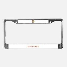 Safe as Milk License Plate Frame