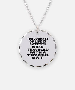 Traveled With toyger Cat Necklace