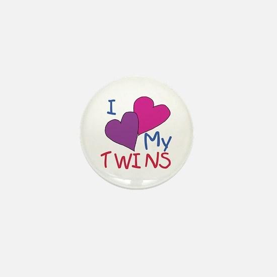 I heart my twins Mini Button