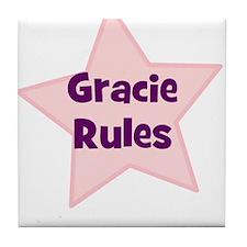 Gracie Rules Tile Coaster