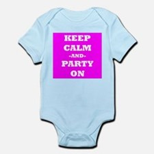 Keep Calm And Party On (Pink) Body Suit