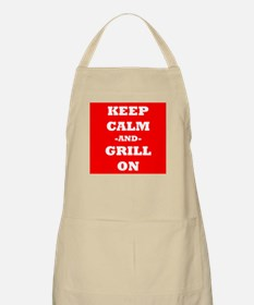 Keep Calm And Grill On (Red) Apron