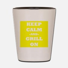 Keep Calm And Grill On (Yellow) Shot Glass
