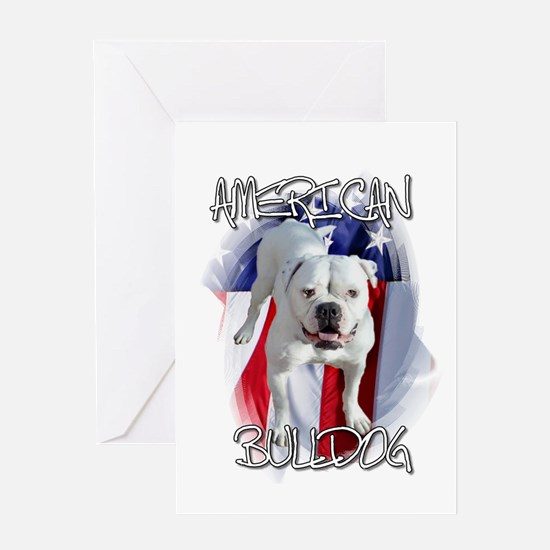 American Bulldog Greeting Card