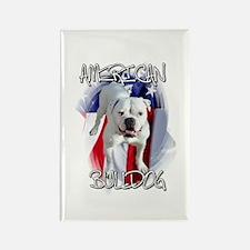American Bulldog Rectangle Magnet (100 pack)