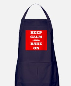 Keep Calm And Bake On (Red) Apron (dark)