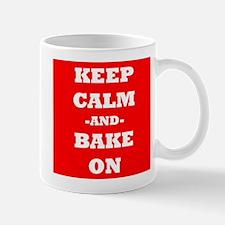 Keep Calm And Bake On (Red) Mug