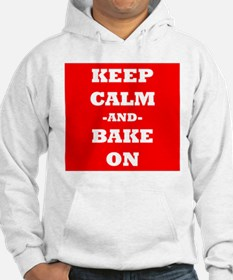 Keep Calm And Bake On (Red) Hoodie