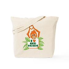 I love (heart) redheads baby orangutan Tote Bag