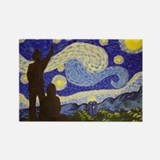 dr. Starry Night Rectangle Magnet
