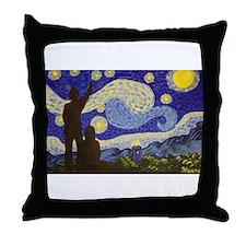 dr. Starry Night Throw Pillow
