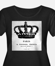 PARIS CROWN Plus Size T-Shirt