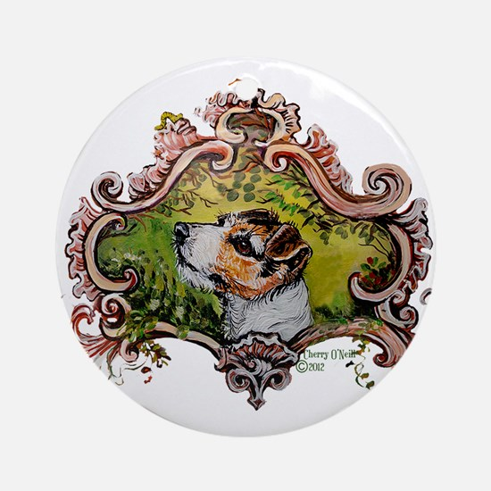 Jack Russell Terrier Portrait Ornament (Round)