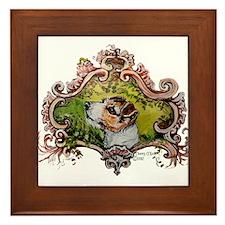 Jack Russell Terrier Portrait Framed Tile