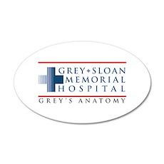 Grey Sloan Memorial Hospital 38.5 x 24.5 Oval Wall