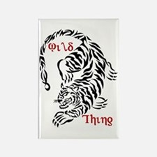 Wild Thing Tiger Rectangle Magnet