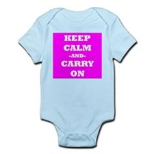 Keep Calm And Carry On (Pink) Body Suit