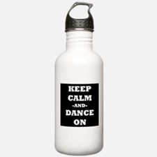 Keep Calm And Dance On (Black) Water Bottle